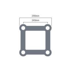 F34 PL 2.0m Circle 90 Degree Segment (PL-402R10B-90)