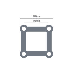 F34 PL 4.0m Circle 90 Degree Segment (PL-402R20B-90)