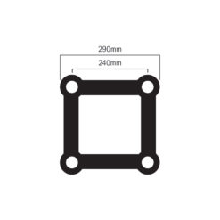 F34 PL Stage Black T Piece (4129-35PL-B)