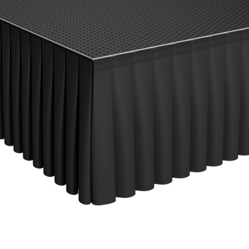 GT Stage Deck Polyester Skirt 40 x 105cm Pleated