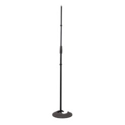 Microphone Stand With Round Stacking Base