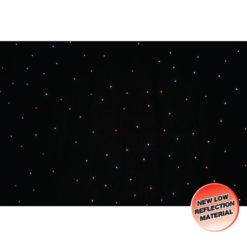 PRO 6 x 3m Tri LED Black Starcloth (Add on for STAR12)
