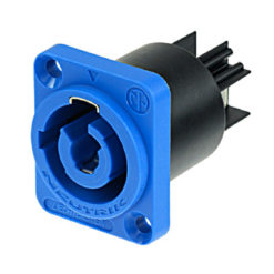 PowerCON A-type Chassis Connector Blue NAC3MPA-1