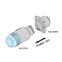 PowerCON B-type Chassis Connector Grey NAC3MPB-1