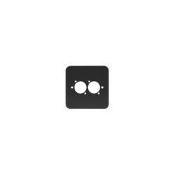 Single Gang 2 x D Type Wall Plate, Black (82511-RC)