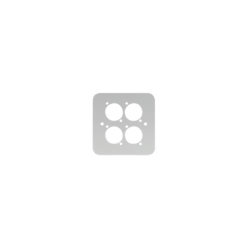 Single Gang 4 x D Type Wall Plate, Silver (82511-4RCS)