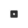 Single Gang D Type Wall Plate, Black (81511-RC)