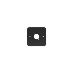 Single Gang D Type Wall Plate, Black (81511-RC)