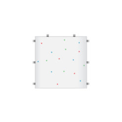 White RGB Starlit 2ft x 2ft Dance Floor Panel (3 sided)