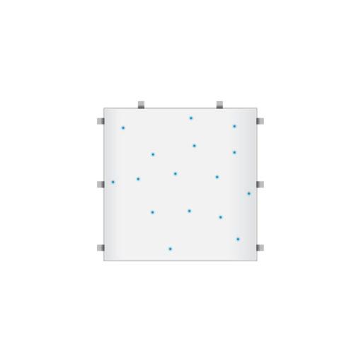 White RGB Starlit 2ft x 2ft Dance Floor Panel (3 sided)