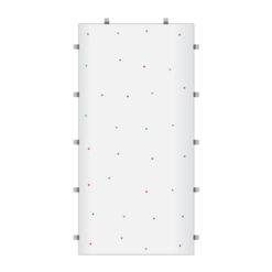 White RGB Starlit 2ft x 4ft Dance Floor Panel