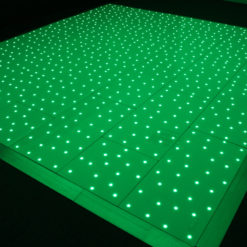 White RGB Starlit Dance Floor System 18ft x 18ft