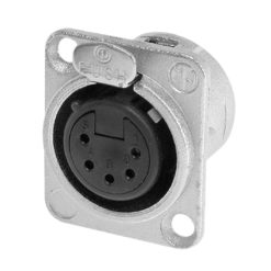 XLR 5-Pin Female Chassis Connector NC5FDL1