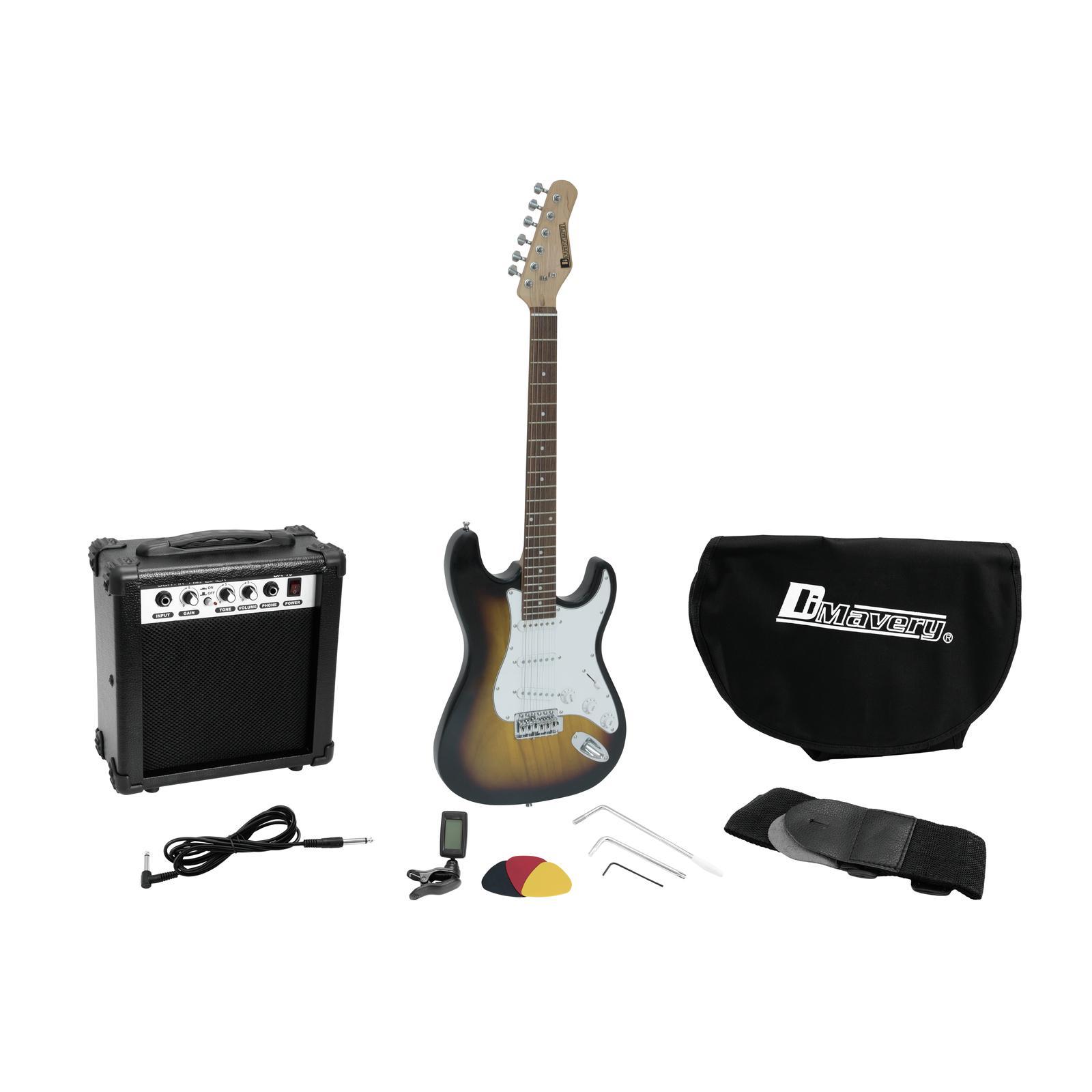 dimavery egs 1 electric guitar set sunburst su ingrosso audio e luci salerno. Black Bedroom Furniture Sets. Home Design Ideas