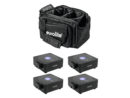 EUROLITE Set 4x AKKU Flat Light 1 black + Soft-Bag