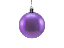 EUROPALMS Deco Ball 6cm, purple, metallic 6x