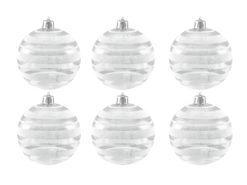 EUROPALMS Deco Ball 7cm, clear, diverse designs 6x