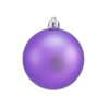 EUROPALMS Deco Ball 7cm, purple, matt 6x