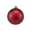 EUROPALMS Deco Ball 7cm, red, matt 6x