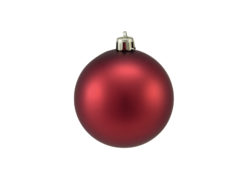 EUROPALMS Deco Ball 7cm, red, matt 6x