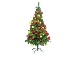 EUROPALMS Premium pine tree, decorated , 180cm