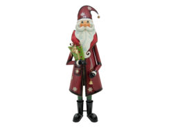 EUROPALMS Santa Claus, Metal, 195cm, red
