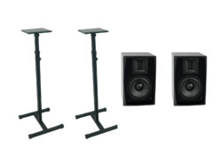 OMNITRONIC Set 2x ARM-6.5 studio monitor + 2x MO-1 stand
