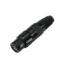 OMNITRONIC XLR socket 3pin black housing 10x