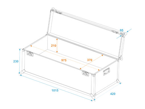 ROADINGER Universal Transport Case 100x40x30cm