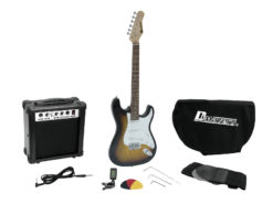 DIMAVERY EGS-1 Electric guitar set, sunburst