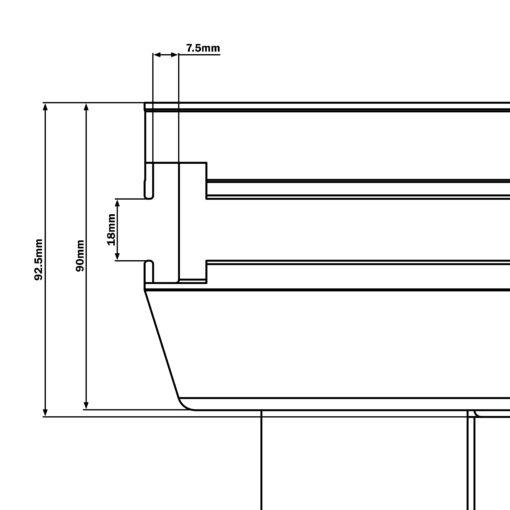 GT Stage Deck 1 x 1m Hexa Quadrant Stage Platform