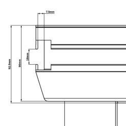 GT Stage Deck 2 x 1m Hexa L/H Triangle Stage Platform
