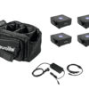 EUROLITE Set 4x AKKU Flat Light 1 black + Soft-Bag + Charger