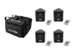 EUROLITE Set 4x AKKU TL-3 QuickDMX + Soft-Bag
