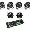 EUROLITE Set 4x LED SLS-7 HCL Floor + 2x LED FE-700 + DMX LED Co