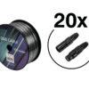 EUROLITE Set DMX cable 2x0.22 100m sw + 40 connectors