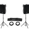OMNITRONIC Set 2x XKB-215A + Speaker Stand MOVE MK2