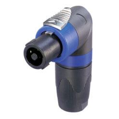 4p. Speakon Connector SPX 90° Male Alloggiamento nero/blu