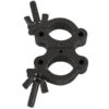 50 mm Compact Swivel Coupler SWL: 300 Kg, Alluminio, Nero