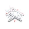 90° 3-way horizontal Taglio 3 vie orizzontale connettori inclusi