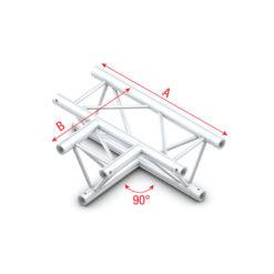 90° 3-way horizontal Taglio a T orizzontale 3 vie