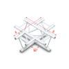 90° 4-way horizontal Taglio 4 vie connettori inclusi