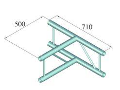 ALUTRUSS BILOCK BQ2-PAT36V 3-way T-Piece 90°