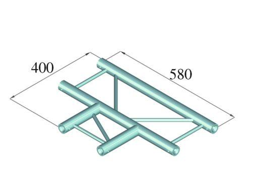 ALUTRUSS DECOLOCK DQ2-PAT35H 3-way T-Piece 90°