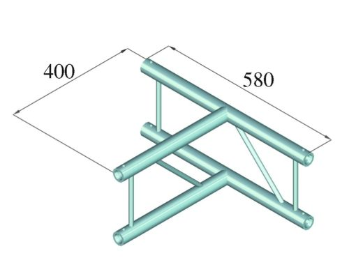 ALUTRUSS DECOLOCK DQ2-PAT36V 3-way T-Piece 90°