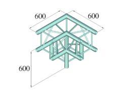 ALUTRUSS QUADLOCK TQ390-QQL30 3-Way-Corner 90°