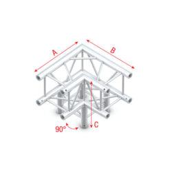 Corner 3-way 90 Q-012 Spigolo tagliato a 90° + 3 vie basso