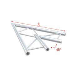 Corner 45° horizontal