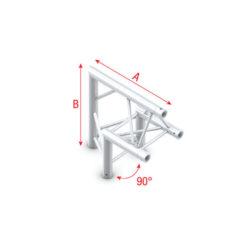 Corner 90° apex up T-006 spigolo tagliato a 90° apice su