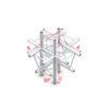 Cross up/down 6-way Taglio incrociato su e giù a 6 vie connettori inclusi